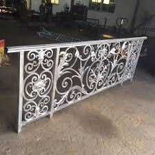 luxury design wrought iron balcony railing for villas in fencing