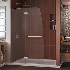 dreamline aqua ultra 45 in width frameless hinged shower door 5