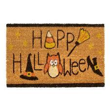 Outdoor Coir Doormats Happy Halloween U201d Coir Door Mat Christmas Tree Shops Andthat