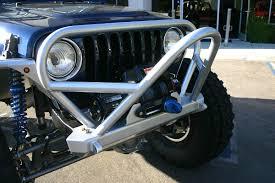 jeep front grill guard tj lj boulder stinger grill guard front bumper steel genright