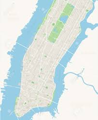 Manhattan New York Map by New York Map Lower And Mid Manhattan Highly Detailed Vector