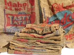 burlap bags for sale vintage farm primitive burlap potato bags w bright advertising