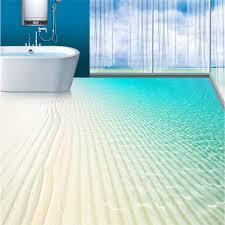 Modern Bathroom Fans Modern Floor Painting Tropical Boundless Sea Fan Waterproof