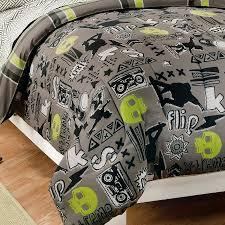 Green And Black Comforter Sets Queen Black Gray Skateboard Bedding Teen Boy Twin Or Full Comforter Set