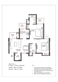 2bhk Plan Stellar One Unit Plans For Type 1 2 3 2bhk And 3bhk
