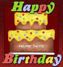 write name on birthday cake gif image white cake namegif com