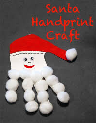 Christmas Crafts To Do With Toddlers - santa handprint christmas craft for toddlers and preschoolers
