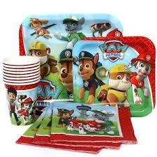 paw patrol plates cups u0026 napkins tableware 8 guest birthday