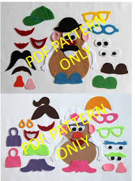 Diy Sew Potato Head Costume Pattern 2 Patterns Potato Head Potato Head