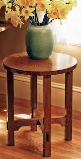 Side Table Plans Arts U0026 Crafts End Table Plans U2022 Woodarchivist