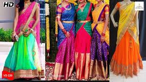 half saree designs designer saree blouse designs