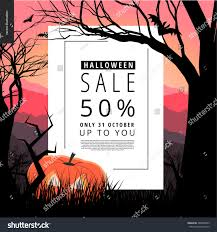 halloween sale notice illustrated poster vector stock vector