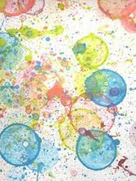 bubble painting mix food coloring in with bubbles blow on page