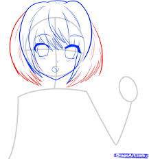 drawing of bob hair how to draw an anime character anime character step by step