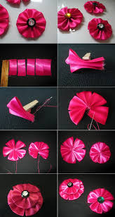 ribbon flowers diy tutorial fabric flowers how to make a ribbon flower for hair