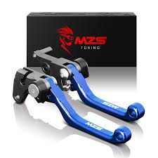 amazon com mzs cnc pivot brake clutch levers for yamaha yz125
