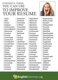 advanced resume writing tips english grammar powerful verbs for your resume more resume