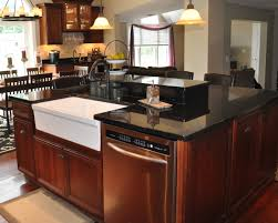 kitchen island with sink and dishwasher dimensions decorative