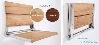 Teak Folding Shower Bench Life Line Shower Seats Elcoma Metal Fabricating U0026 Sales Inc