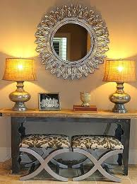 Entry Console Table Console Table With Ottomans Underneath Console Table With Seating