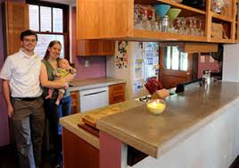 greenfield couple took a sustainable approach by reusing cabinets