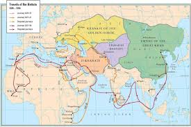 Mongol Empire Map Iraq And Persia 1326 1327 Orias