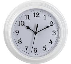 wall clocks buy simple value white plastic wall clock at argos co uk your