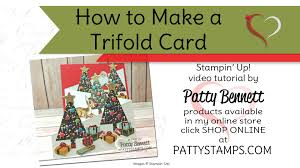 how to make tri fold cards with stampin u0027 up home for christmas