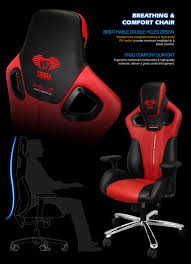 Gaming Chair Leather E Blue Cobra High Back Racing Pc Gaming Chair Bucket Computer