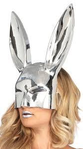 bunny mask see thru bunny mask metallic bunny mask yandy