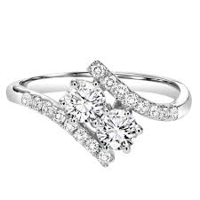 2 s ring twogether 3 4cttw 2 plus bypass diamond ring mullen jewelers