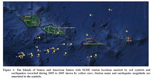 American Samoa Map Detecting Microseismic Activity In American Samoa With Surface And