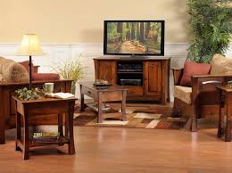 Furniture For Tv Set Funiture Amish Furniture For Living Room With Wooden Frame Sofa