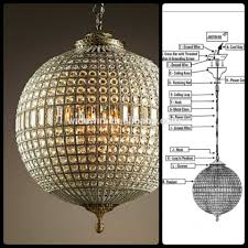 Sphere Chandelier With Crystals Chandeliers Sle Sphere Chandelier Images Concept Wire