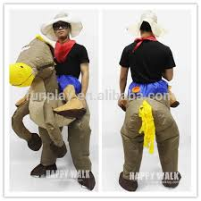 Horse Rider Halloween Costume Halloween Cosplay Costume Horse Riding Clothes Pony Inflatable