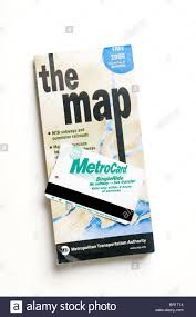 New York Bus Map by New York City Subway And Bus Map With Fare Card Metro Card Stock
