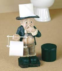 free standing butler toilet tissue holder with pinched nose home