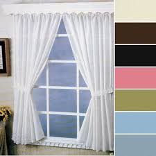 Washable Curtains Carnation Home Fashions Fabric Bathroom Window Curtain 36 Inch By