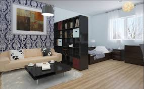 small apartment design ideas wooden headboard design round shaped