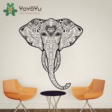 Wall Decals Vinyl Sticker Mandala by Aliexpress Com Buy High Quality Elephant Ganesha Tattoo Om