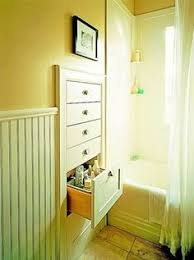 built in linen closet in the bathroom this would work great in a
