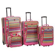 rockland luggage f106 4 piece luggage set hayneedle