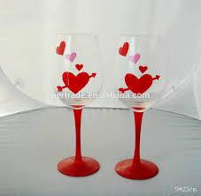 valentine u0027s hand painted wine glass valentine u0027s hand painted wine