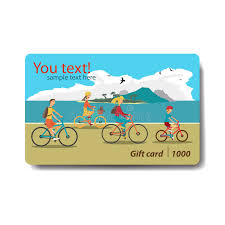 discount gift card summer sale discount gift card branding design for travel stock