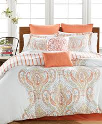 Coral And Teal Bedding Sets Closeout Jordanna Coral 8 Pc Comforter Sets Created For Macy S