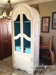 hutch makeover reveal painted vintage