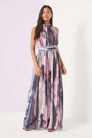 coloured dress multi coloured marble print maxi dress wallis