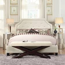 Bed Alternatives Small Spaces Homesullivan Monarch White Queen Upholstered Bed 40e388bq 1wlbed