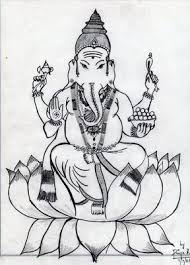 my first drawing ganesha this drawing is very close to my heart