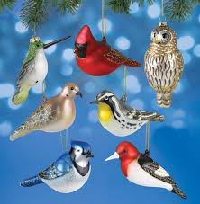 birds unlimited the glass bird ornaments